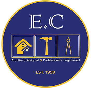 E.C. Design Build Construction's Logo