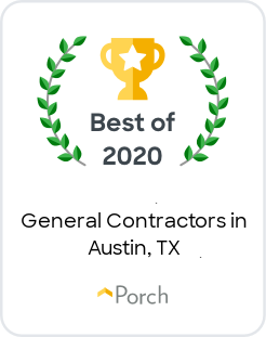 Best of 2020 General Contractors in Austin Texas Badge